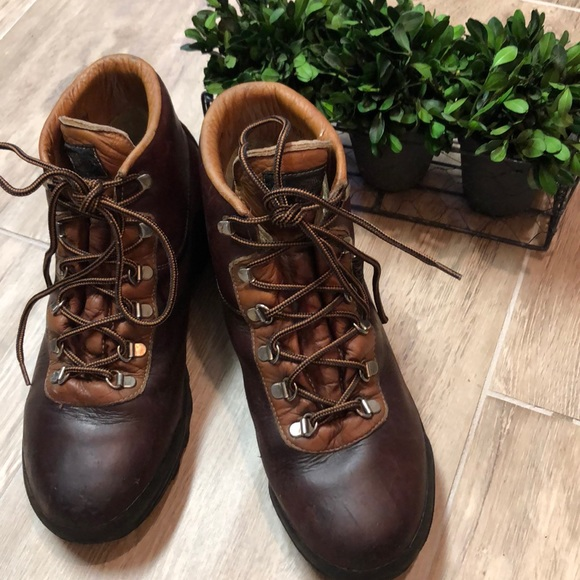 Vintage Vasque Leather Hiking Boots from Italy